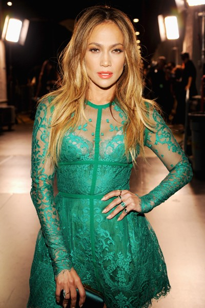 Jennifer Lopez backstage at FOX's 2014 Teen Choice Awards