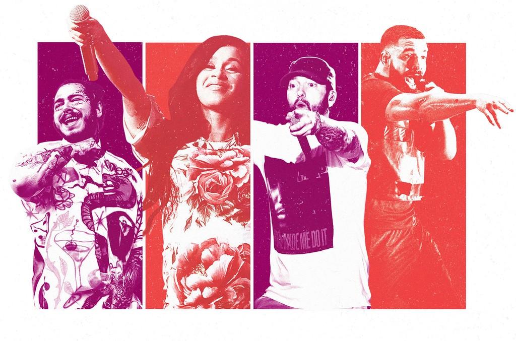 Post Malone, Cardi B, Eminem & Drake