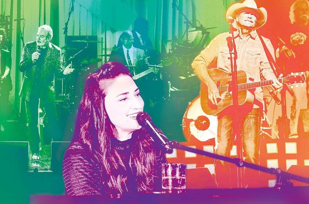 Neil Diamond, Sara Bareilles and Alan Jackson