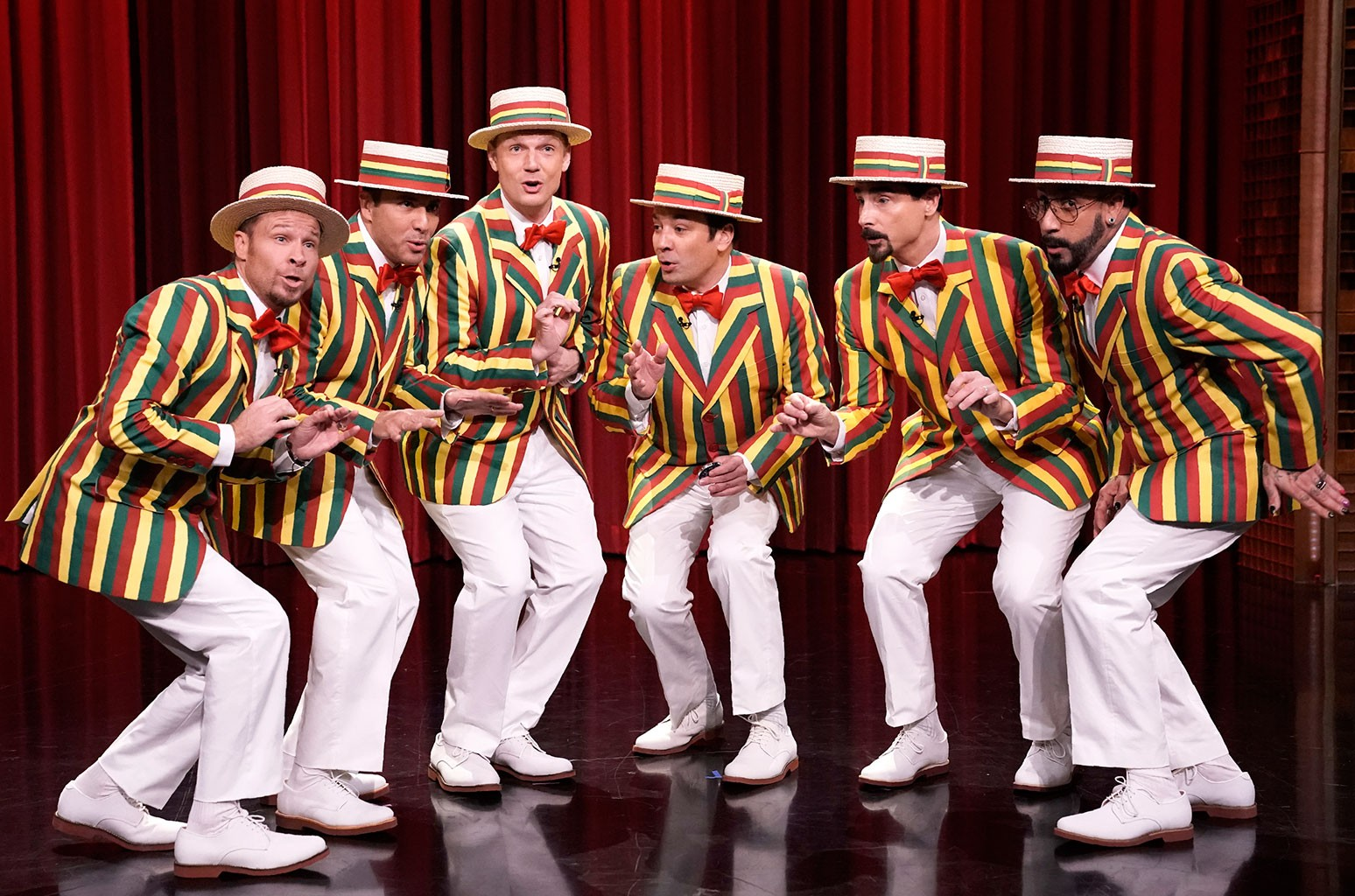 Backstreet Boys and Jimmy Fallon