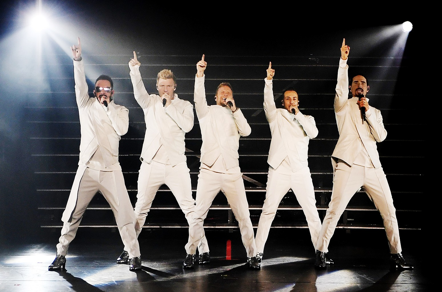 AJ McLean, Nick Carter, Brian Littrell, Howie Dorough and Kevin Richardson of the Backstreet Boys