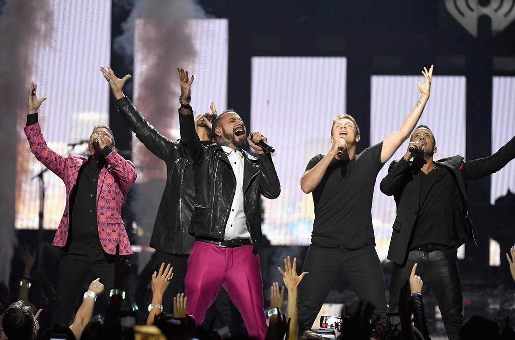 Backstreet Boys perform onstage at the 2016 iHeartRadio Music Festival