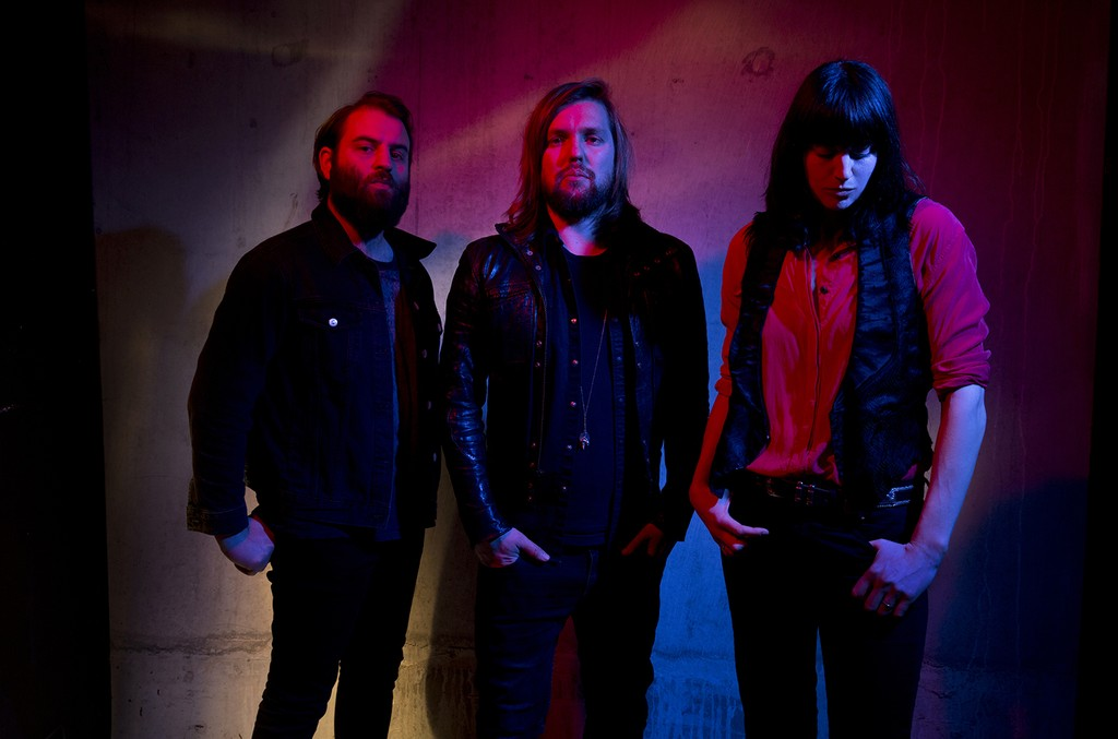 Band of Skulls photographed in 2016.