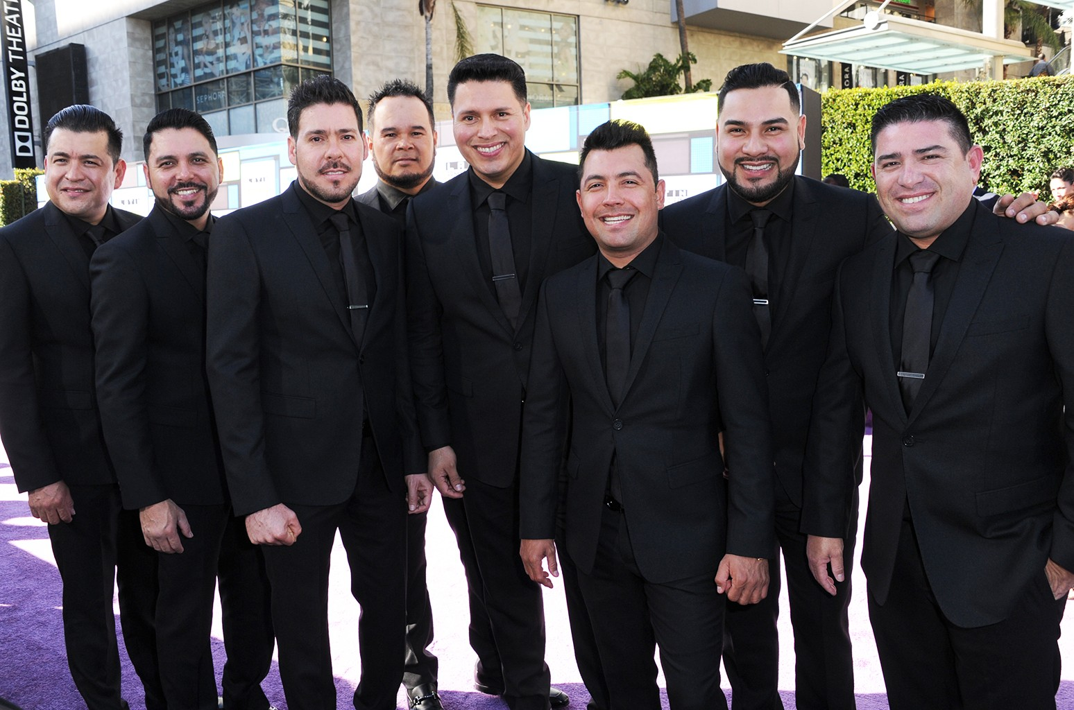 Banda MS arrive at the Latin American Music Awards at the Dolby Theatre on Oct. 6, 2016 in Los Angeles.