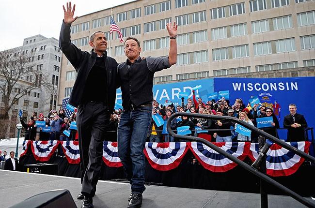 Barack Obama and Bruce Springsteen