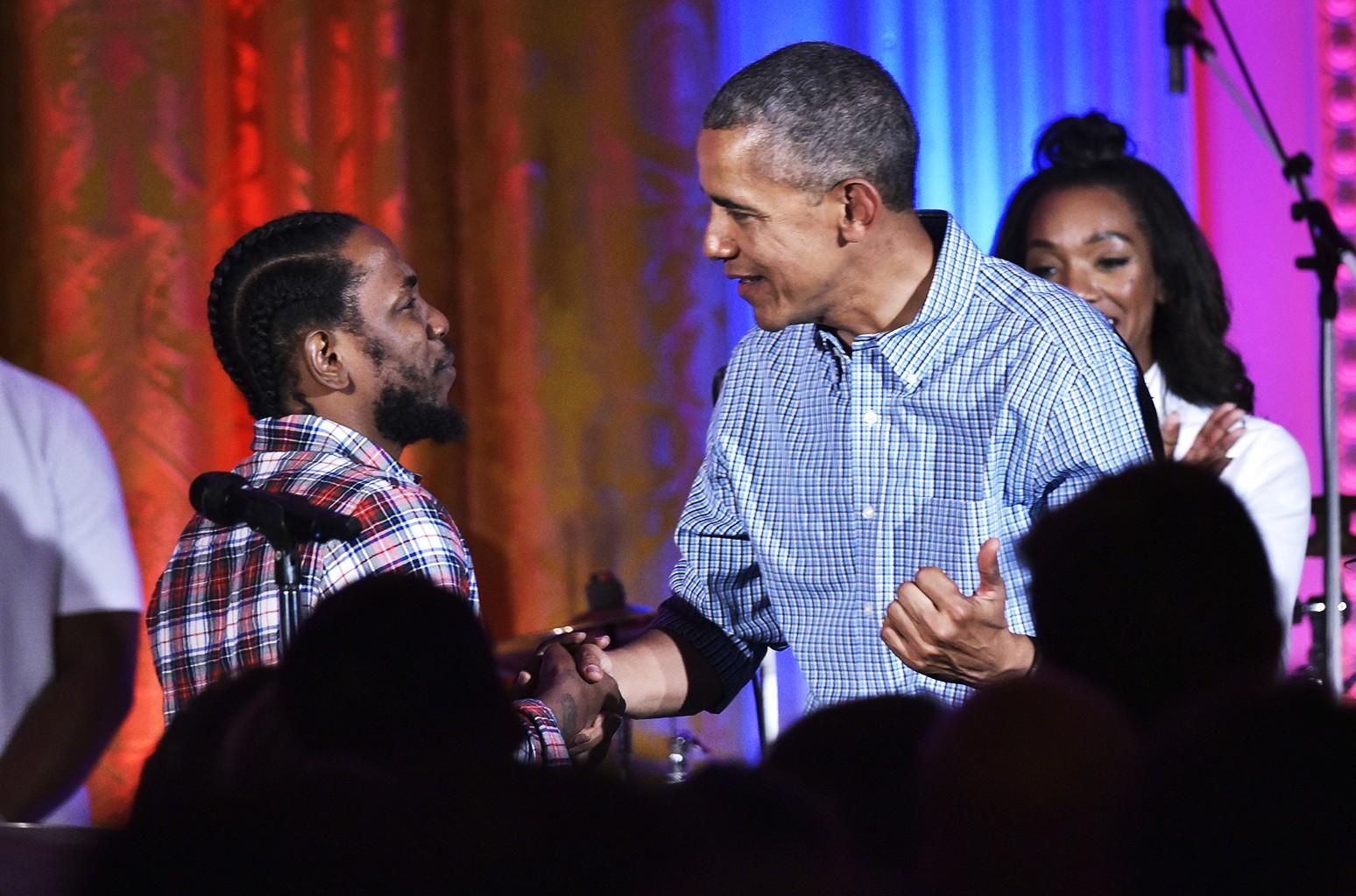 Barack Obama and Kendrick Lamar