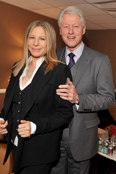Barbra Streisand and President Bill Clinton