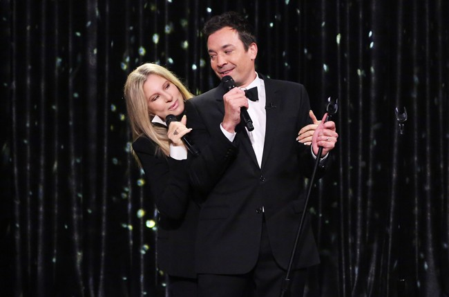 Barbra Streisand with Jimmy Fallon on The Tonight Show