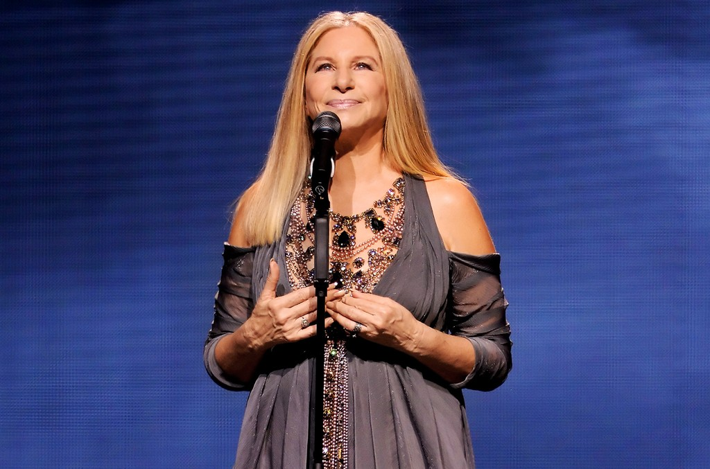 Barbra Streisand performs onstage during the tour opener for 'Barbra - The Music... The Mem'ries... The Magic!' at Staples Center on Aug. 2, 2016 in Los Angeles.