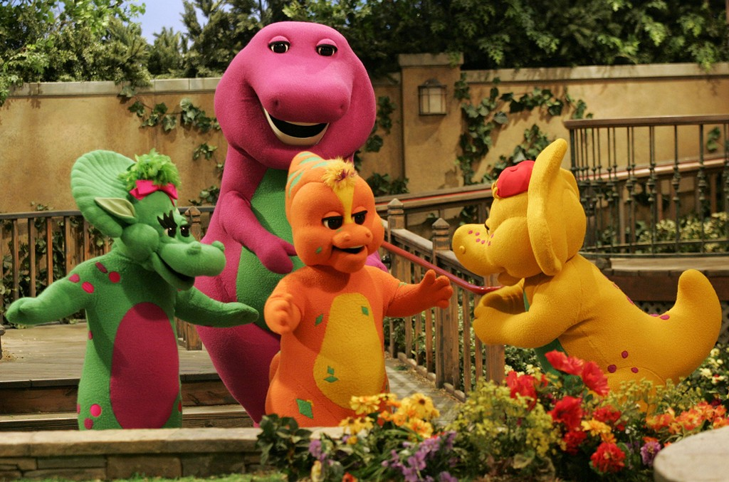 The cast of Barney and Friends