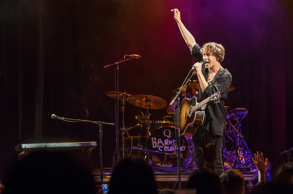 Barns Courtney perform at the El Rey Theatre in Los Angeles on May 9, 2017.