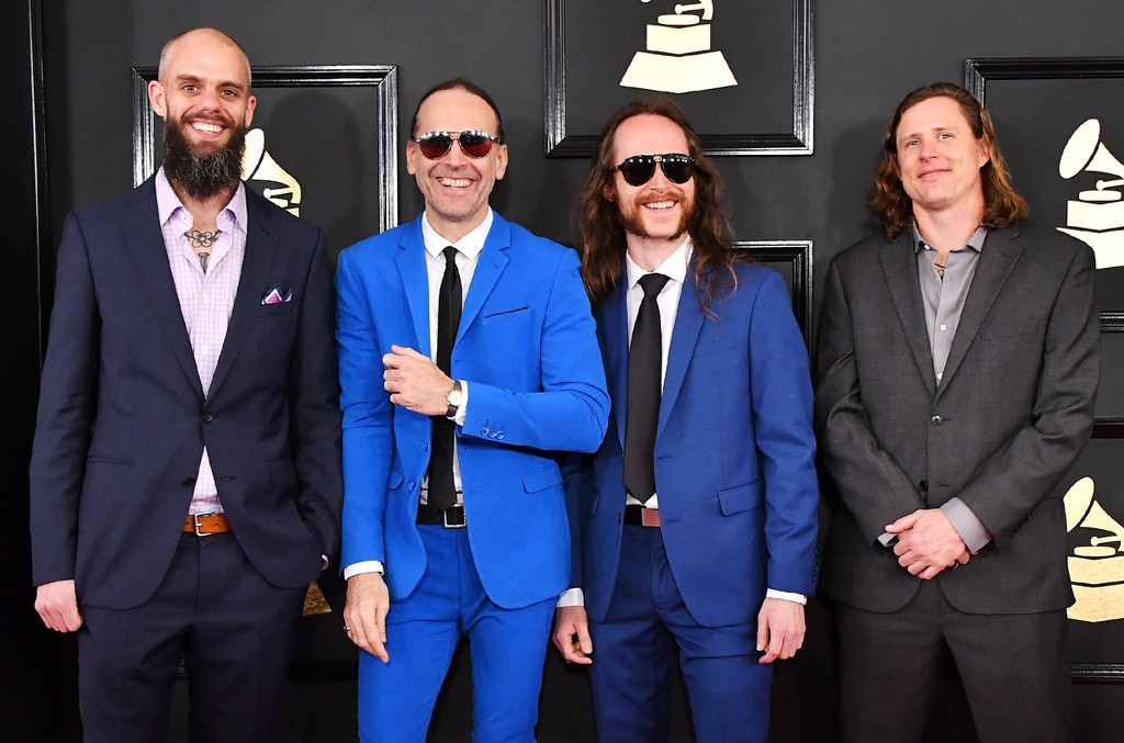 John Dyer Baizley, Sebastian Thomson, Nick Jost and Peter Adams of Baroness attend The 59th Grammy Awards at Staples Center on Feb. 12, 2017 in Los Angeles.