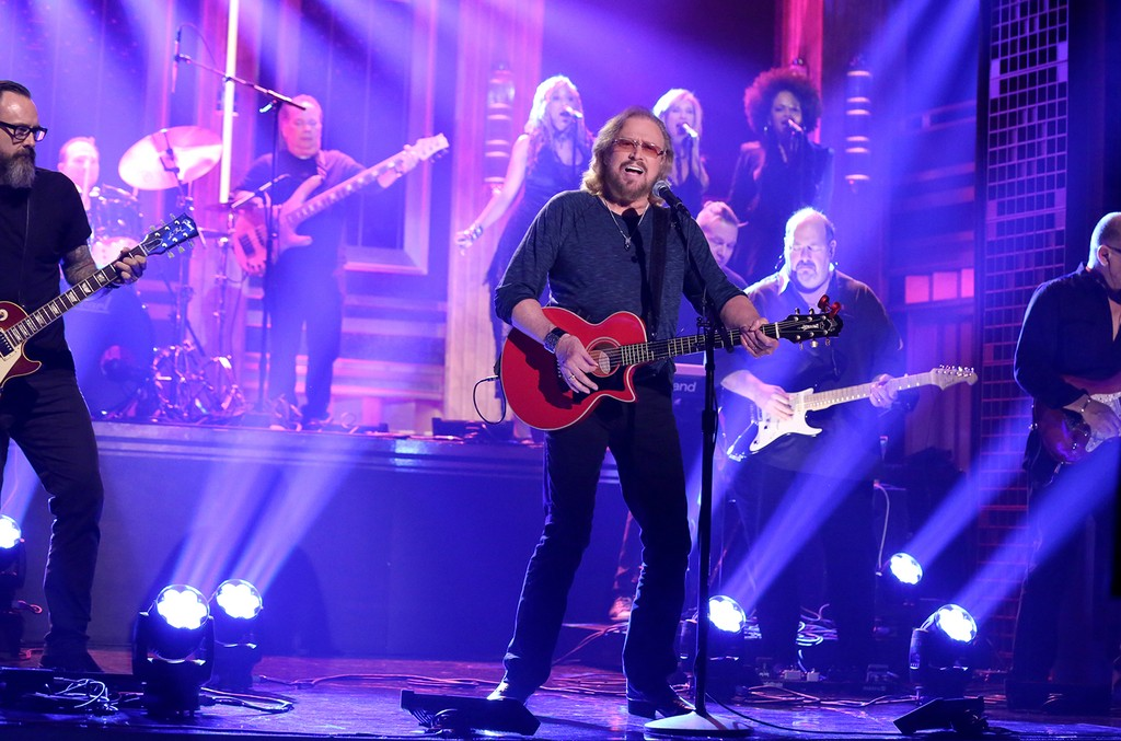 Barry Gibb performs on The Tonight Show Starring Jimmy Fallon