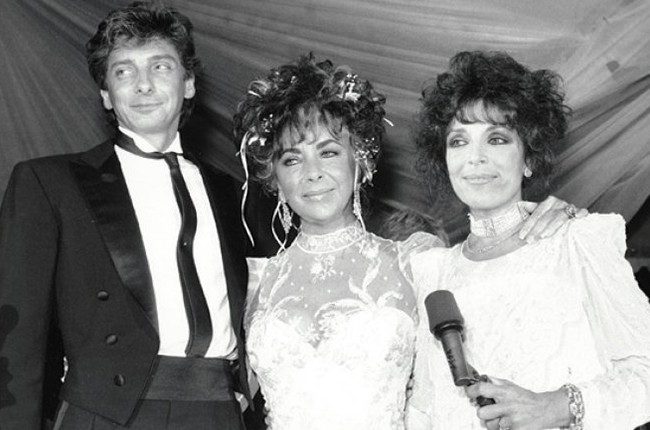 Barry Manilow, Elizabeth Taylor and Carole Bayer Sager