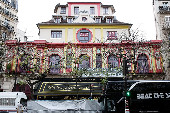 The Bataclan concert hall on November 16, 2015 in Paris, France.