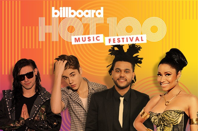 hot 100 fest skrillex justin bieber the weend nicki minaj