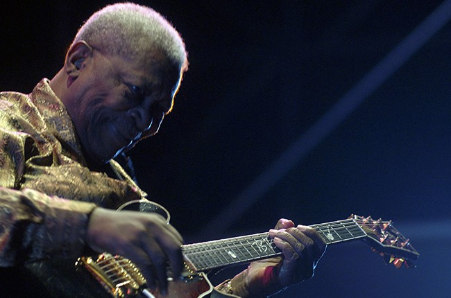 B.B. King plays a concert for his 80th birthday at the Foro Italico on July 12, 2005 in Rome, Italy.