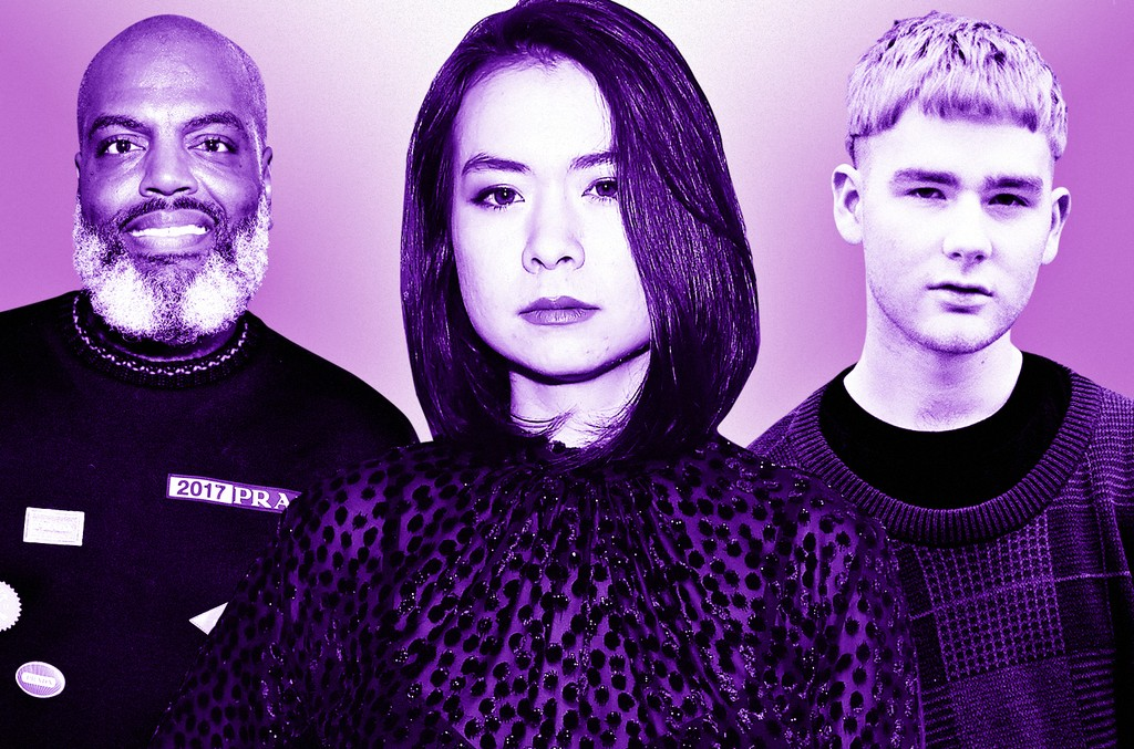 "From left: Kevin ""Coach K"" Lee, Mitski & Mura Masa"