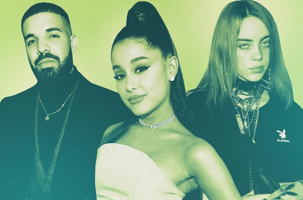 Drake, Ariana Grande and Billie Eilish