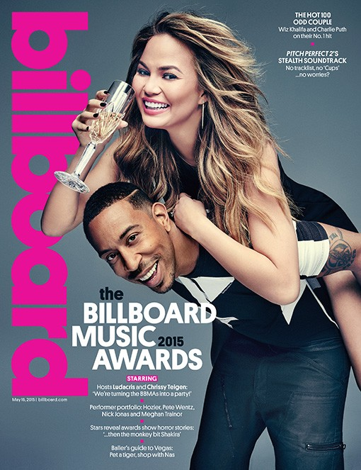 Billboard Music Awards hosts Chrissy Teigen and Ludacris photographed at Milk Studios in New York City on May 5, 2015.