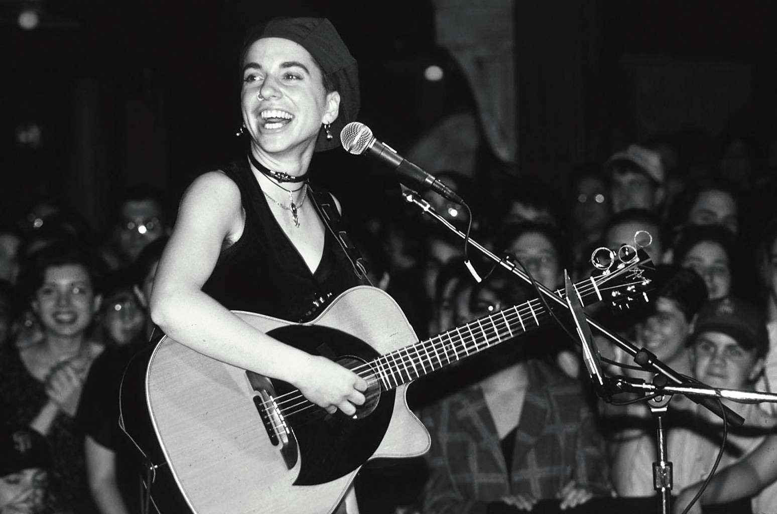 Ani DiFranco performs at Wetlands in New York City in 1994.
