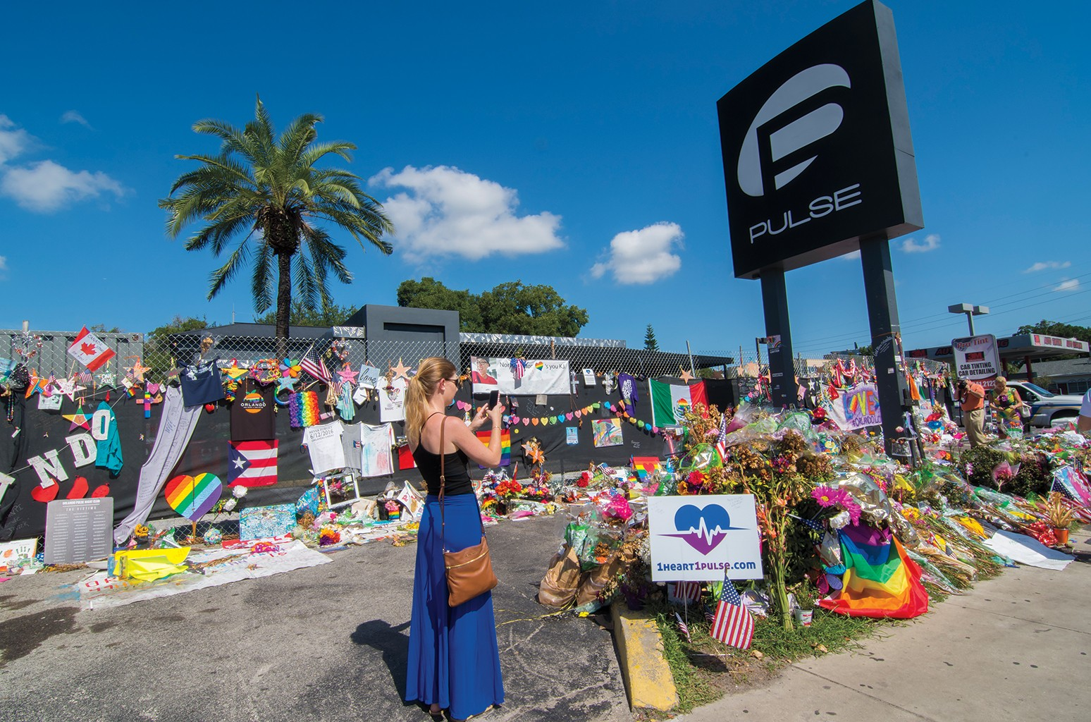 The memorial outside Pulse nightclub on June 12, 2016.