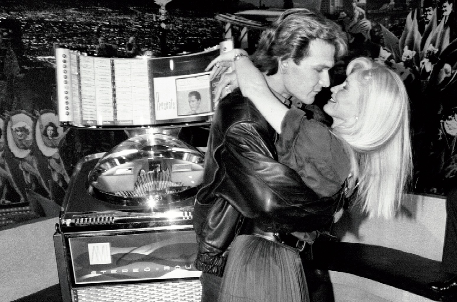 Muller restored the jukebox featured in Ghost (seen here with star Patrick Swayze in 1992) for the film's director, Jerry Zucker.