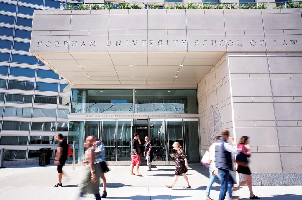Exterior of Fordham University School of Law in New York.