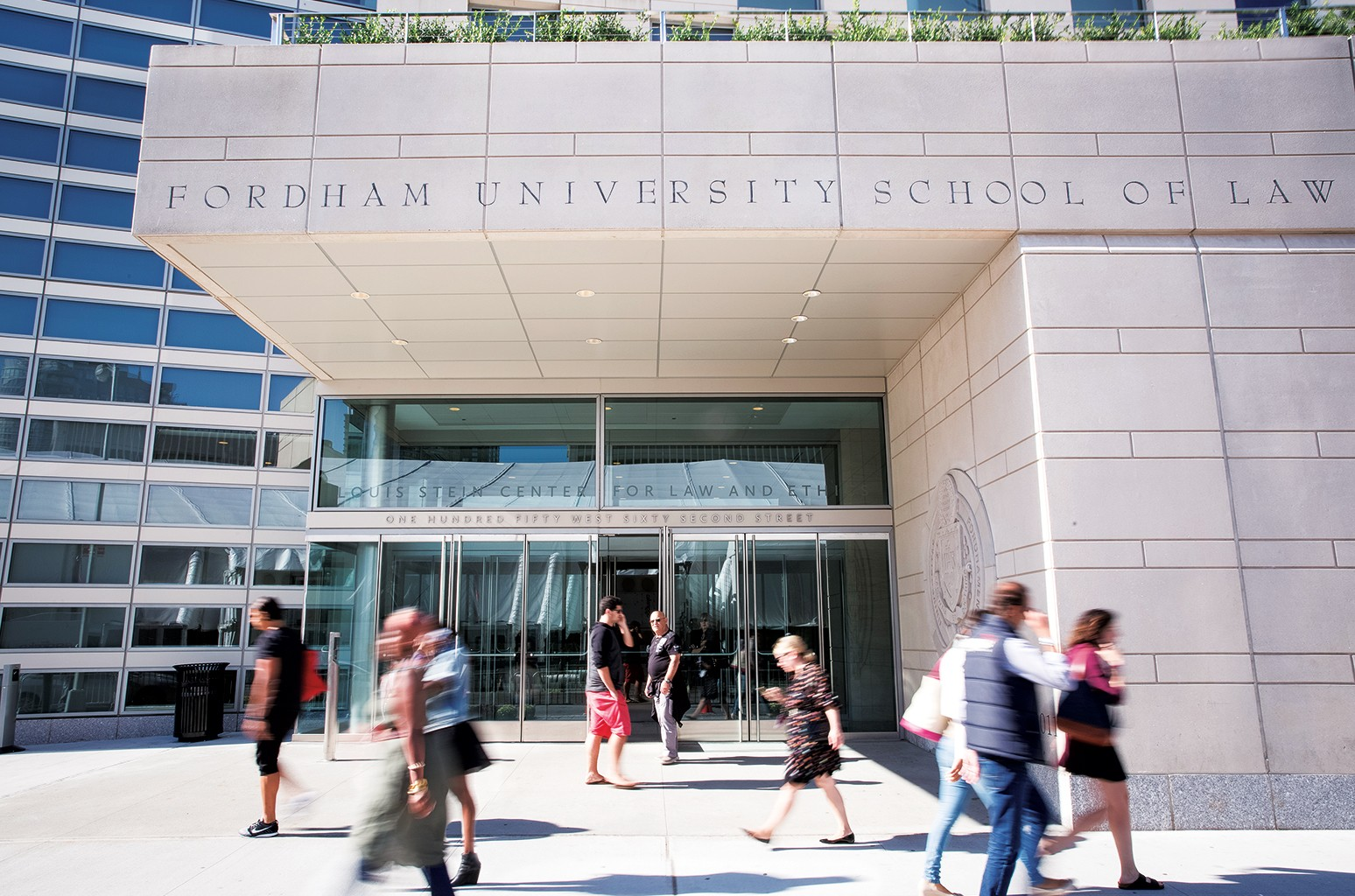 Exterior of Fordham University School of Law in New York.