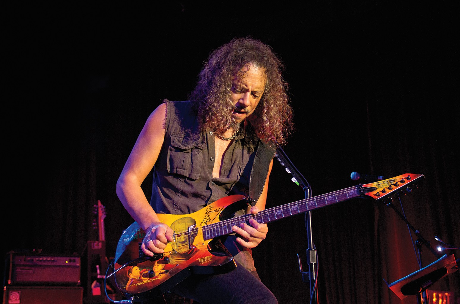 """Hammett onstage in 2011. He appreciates the """"romanticism"""" of vintage posters."""