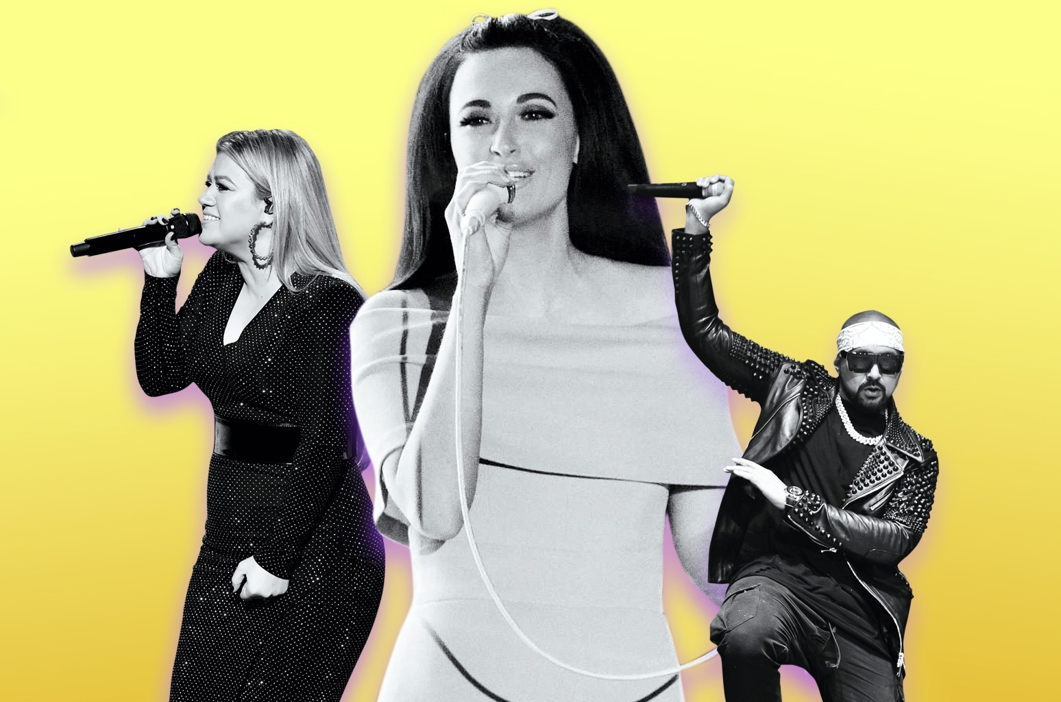 Kelly Clarkson, Kacey Musgraves and Sean Paul