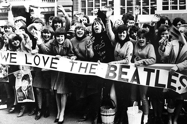 Beatles fans in the 1960s