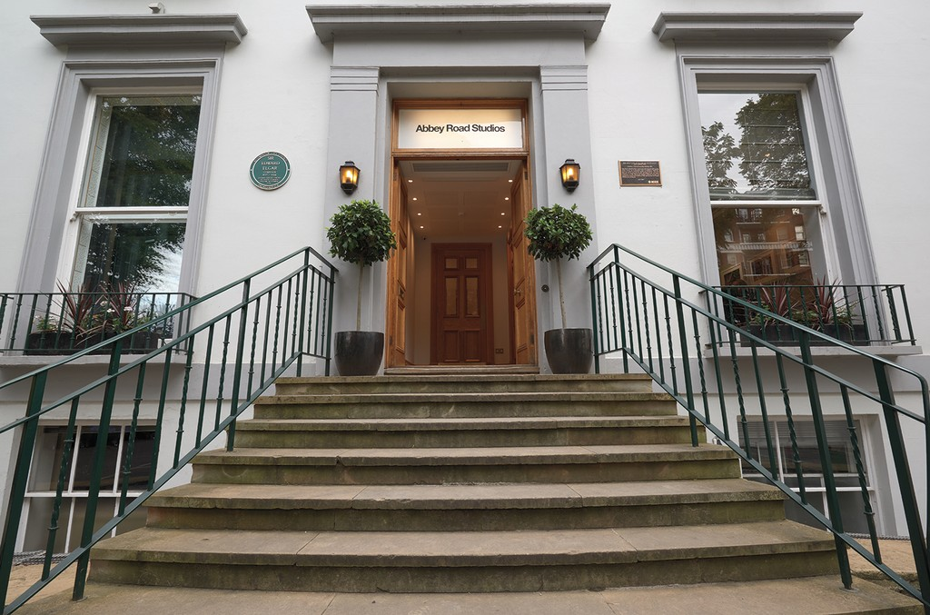 The outside of Abbey Road Studios, located in the City of Westminster in London.