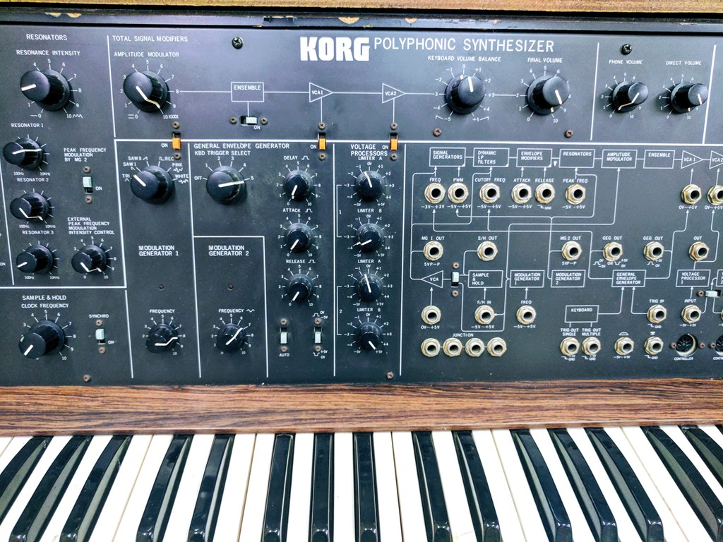 A Korg PS-3100 synthesizer at Sound City.