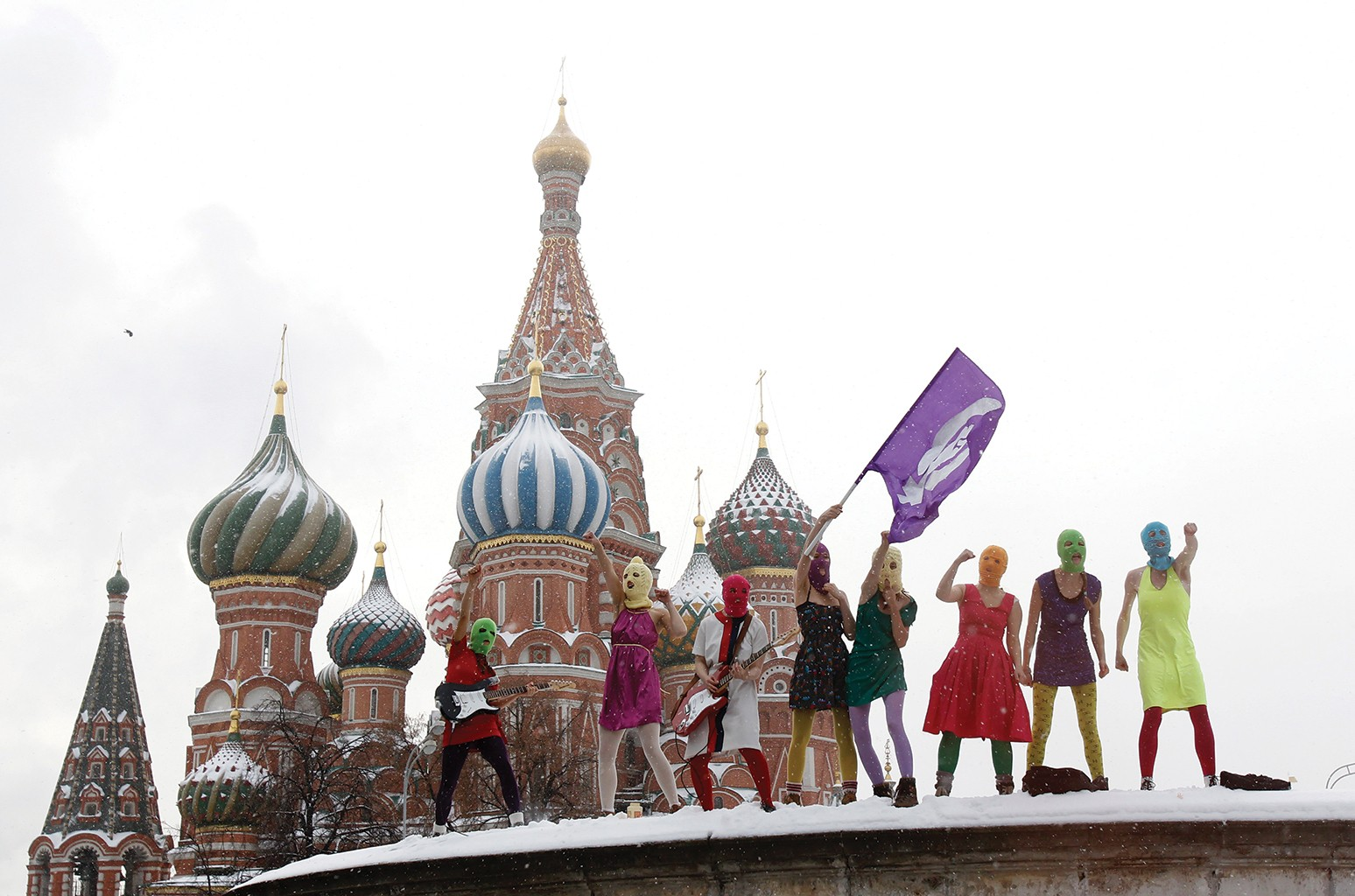 Pussy Riot in Moscow in 2012