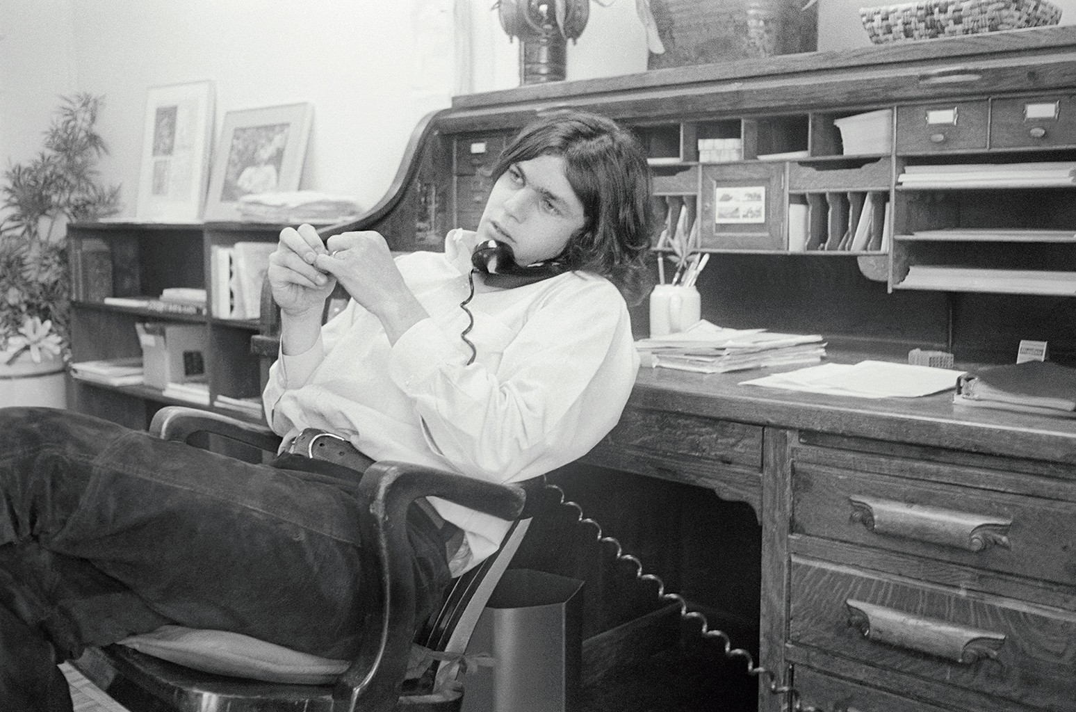 Wenner in Rolling Stone's San Francisco office in 1970.