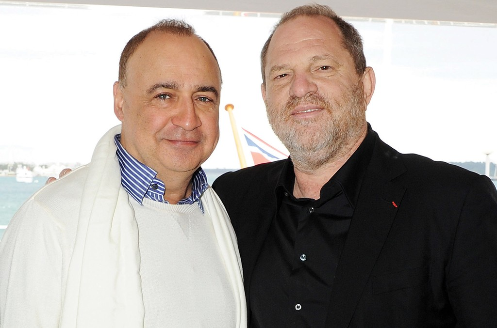 Weinstein (right) with Blavatnik at a lunch party the two hosted together with WMG at the Cannes Film Festival in 2012.