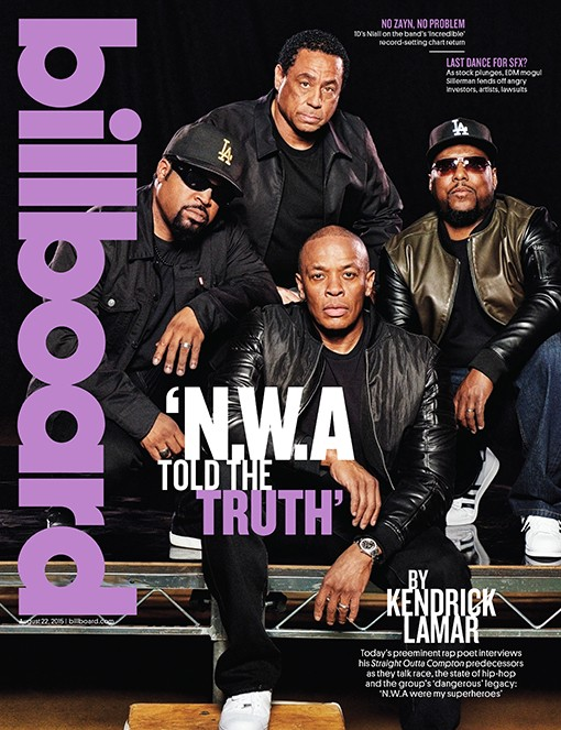 Ice Cube, Dr. Dre, DJ Yella and MC Ren of N.W.A bb24