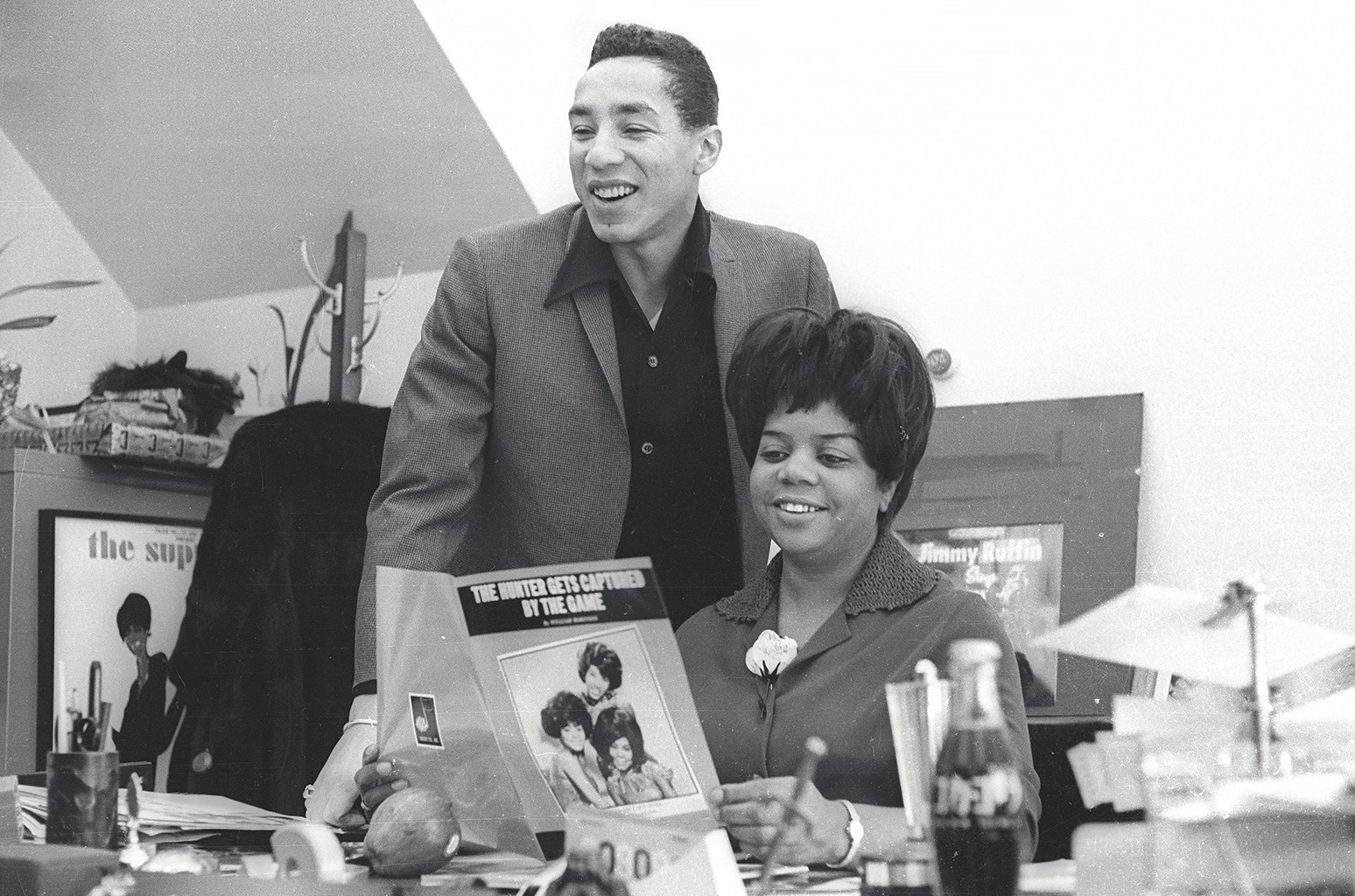Robinson and Motown Records vice president Esther Gordy Edwards in Detroit in 1967.