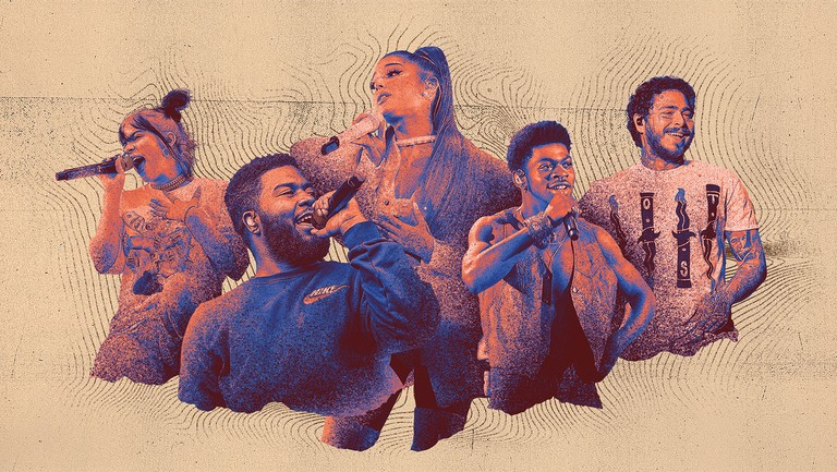 <p>Among the year&rsquo&#x3B;s top-streaming artists are Billie Eilish, Khalid, Ariana Grande, Lil Nas X and Post Malone (from left).</p>
