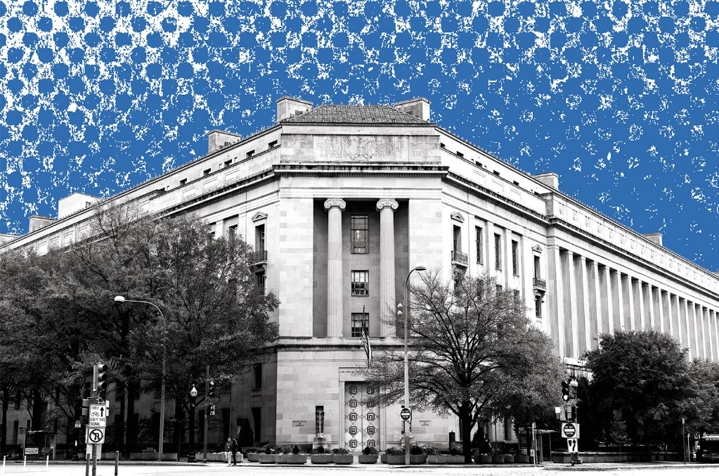 The Robert F. Kennedy Department of  Justice Building in Washington, D.C.