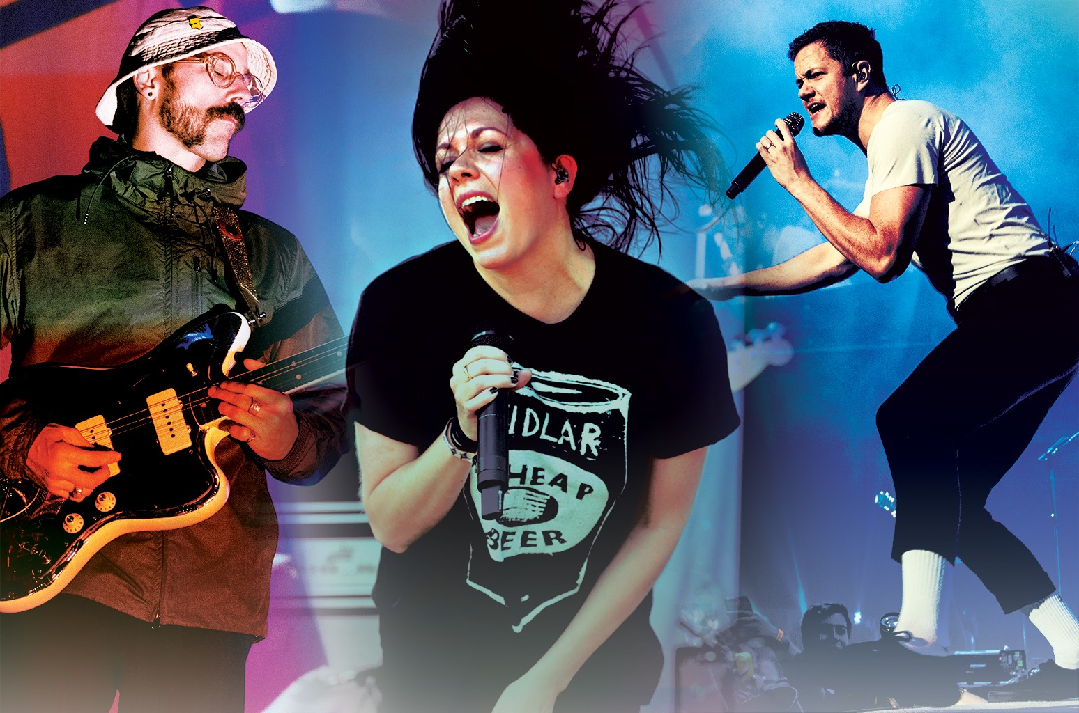 John Gourley from Portugal. The Man, K.Flay and Dan Reynolds from Imagine Dragons.