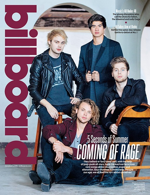 5 Seconds of Summer photographed at Asbury Park Convention Hall in Asbury Park, NJ on Aug. 30, 2015.