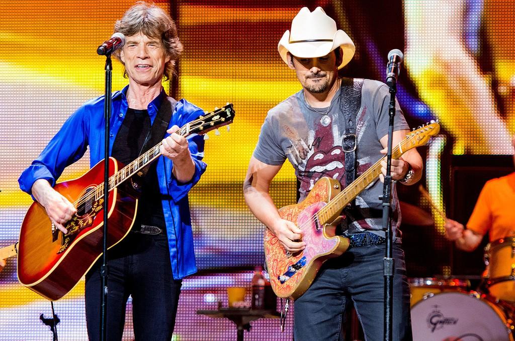 Mick Jagger & Brad Paisley, 2013
