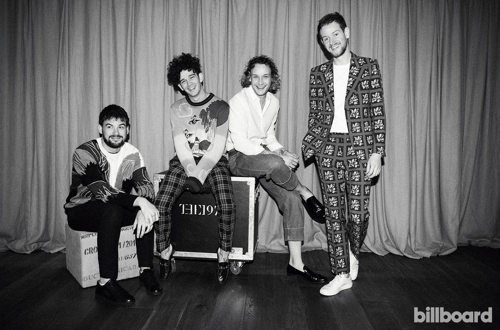 The 1975 photographed on Oct. 14, 2016 at The Forum in Inglewood, Calif.