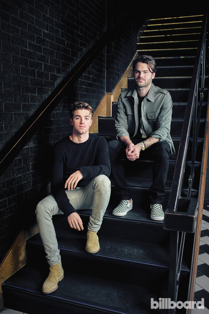 The Chainsmokers photographed on Nov. 21, 2016 at 1 Oak in West Hollywood, Calif.