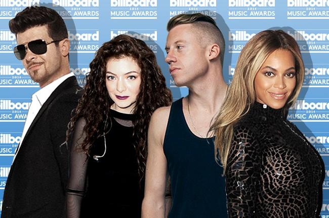 Robin Thicke, Lorde, Macklemore & Ryan Lewis, Beyonce