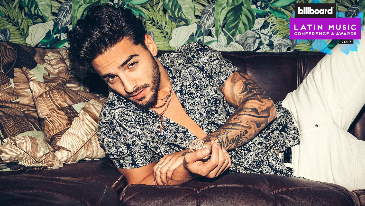 Maluma photographed March 27 at Doheny Room in West Hollywood.