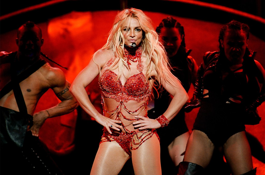 Britney Spears performs onstage during the 2016 Billboard Music Awards
