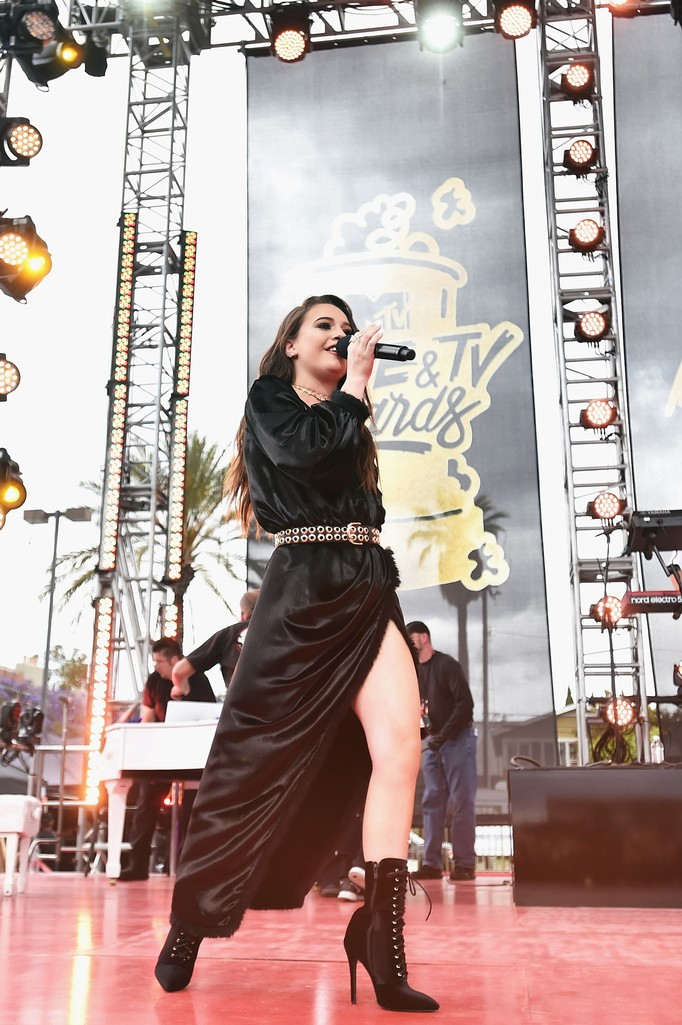 Bea Miller performs at the 2017 MTV Movie and TV Awards Festival at The Shrine Auditorium on May 7, 2017 in Los Angeles.